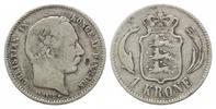 Krone 1875 CS, Dänemark, Christian IX., 1863-1906, s-ss  25,00 EUR kostenloser Versand