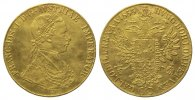 Haus Habsburg, 4 Dukaten 1855 A, Wien. 13,71g  GOLD, l.gewellt, kl.Hsp.,... 2000,00 EUR 