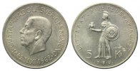 Schweden, 5 Kronen 1962,  vz Gustaf VI Adolf, 80. Geburtstag, 22,00 EUR 