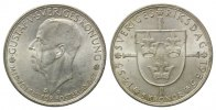 Schweden, 5 Kronen 1935,  vz-st Gustaf V., 500 Jahre Reichstag, 29,00 EUR 