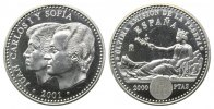 Spanien, 2000 Peseten 2001,  PP in Kapsel Die letzte Pesete, 32,00 EUR 