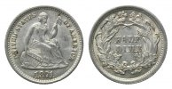USA, 1/2 Dime 1871,  vz-st Liberty Seated, 75,00 EUR 