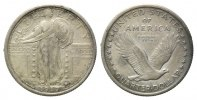 USA, 1/4 Dollar 1917,  ss-vz Standing Liberty, 80,00 EUR 