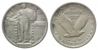 USA, 1/4 Dollar 1923,  ss Standing Liberty, 45,00 EUR 
