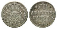 D&auml;nemark, XII Skilling 1717 CW,  ss Frederik IV., 1699-1730, 70,00 EUR 
