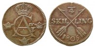 Schweden,  1/4 Skilling 1805,  ss Gustaf IV. Adolf, 1792-1809, 20,00 EUR 