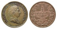 Schweden,  2/3 Skilling 1836,  Rdf., vz Karl XIV. Johan, 1818-1844, 40,00 EUR 