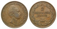 Schweden,  2 Skilling 1846,  selten, ss-vz Oskar I., 1844-1859, 45,00 EUR 