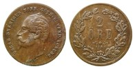 Schweden,  2 &Ouml;re 1858 LA,  ss Oskar I., 1844-1859, 20,00 EUR 