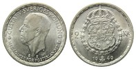 Schweden, 2 Kronen 1949 TS,  kl.Rdf., feine Kr., vz-st Gustaf V., 1907-1... 20,00 EUR 