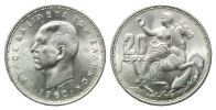Griechenland, 20 Drachmen 1960,  feine Kr., st Paul I., 1947-1964, 45,00 EUR 