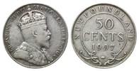 50 Cents 1907, Neufundland, Edward VII., 1901-1910, ss  38,00 EUR kostenloser Versand