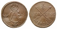 1/4 Skilling, 1802, Schweden, Gustaf IV. Adolf, 1792-1809, f.vz  19,00 EUR kostenloser Versand