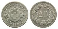 20 Rappen 1850, Schweiz, Bundesstaat, seit 1848, ss  25,00 EUR kostenloser Versand