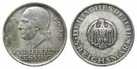 5 Mark  1929 A Weimarer Republik, Lessing, prägeschw., f.vz  75,00 EUR kostenloser Versand