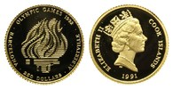 Cook Islands, 250 Dollars 1991, 7,77g,  PP Olympisches Feuer, 285,00 EUR