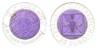 25 Euro 2005 Österreich, 50 Jahre Fernsehen, st, Etui, Zertifikat  130,00 EUR  zzgl. 6,40 EUR Versand
