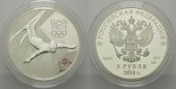 3 Rubel 2014, Russland, Olympiade Sochi - Freestyle Ski mit Farbapplika... 54,00 EUR kostenloser Versand