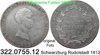 1 Species Thaler 1812 Deutschland Schwarzb...