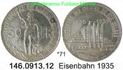 50 Francs 1935 Belgium Belgien *71 KM106 franz. Eisenbahn . 146.0913.12... 95,00 EUR