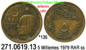 5 Milliemes 1979 Egypt Ägypten *173 Mumienkopf, seltener Jahrgang . 271... 39,00 EUR  zzgl. 4,75 EUR Versand