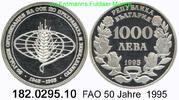 1000 Lewa 1995 Bulgaria Bulgarien *219 KM214 FAO 50 Jahre . 182.0295.10... 28,00 EUR  zzgl. 4,75 EUR Versand