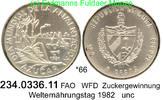 5 Pesos 1981 Cuba Kuba  . *66 FAO WFD Zucker unc  24,00 EUR  zzgl. 4,75 EUR Versand