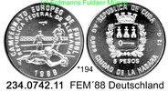 5 Pesos 1988 Cuba Kuba  . *194 FEM´88 drei Spieler unc  24,75 EUR  zzgl. 4,75 EUR Versand