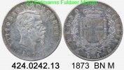 5 Lire  1873 BN M Italy Italien KM8 . 424.0242.13 ss  27,00 EUR  zzgl. 4,75 EUR Versand