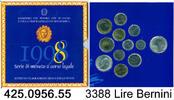 3388 Lire 1998 Italy Italien Bernini Kurssatz 1998 . 425.0956.55  unc  64,00 EUR  zzgl. 6,50 EUR Versand