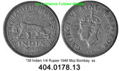 India Indien 1/4 Rupee *39  KM548 . Tiger . 404.0178.13