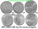 3 Werte 1983 Korea South Südkorea *86 bis *88 Oly´88 . 451.0321.55  unc  75,00 EUR  zzgl. 6,50 EUR Versand
