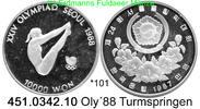 10.000 Won 1987 Korea South Südkorea  . *101 Oly´88 Turmspringen PP  46,50 EUR  zzgl. 4,75 EUR Versand