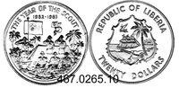 20 Dollars 1982 Liberia  . . *43 Pfadfinder PP  75,00 EUR
