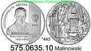 10 Zloty 2002 Poland Polen *443 KMY432 Malinowski  . 575.0635.10  PP  30,00 EUR  zzgl. 4,75 EUR Versand