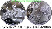 10 Zloty 2004 Poland Polen *514 KMY517 Oly Athen Fechten . 575.0721.10 PP  24,25 EUR  zzgl. 4,75 EUR Versand