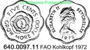 5 Cents 1972 Seychelles Seschellen *18 KM18 FAO unc  1,25 EUR  zzgl. 4,75 EUR Versand