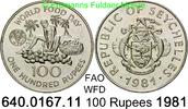 100 Rupees 1981 Seychelles Seschellen *45b KM45a FAO WFD Welternährungs... 28,00 EUR  zzgl. 4,75 EUR Versand