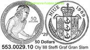 50 Dollars 1989 Niue *29 KM44 Oly´88 Graf Grand-Slam PP  49,50 EUR  zzgl. 4,75 EUR Versand