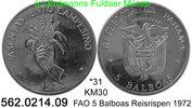 5 Balboas 1972 Panama *31 KM30 FAO Reisrispen -PP  47,45 EUR