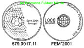 Portugal 1000 Escudos 2001 unc  *240 . FEM...