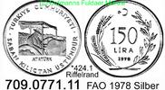150 Lira 1978 Turkey Türkei *424.1 KM918.1 FAO Riffelrand  unc  23,25 EUR  zzgl. 4,75 EUR Versand