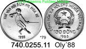100 Dong 1986 Vietnam wiedervereinigt *79 KM24 Fechten Oly´88 . . 740.0... 35,00 EUR  zzgl. 4,75 EUR Versand