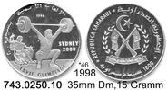 1000 Pesetas 1998 West Sahara RASD Sahara bei Schön *46 Gewichtheber Ol... 35,50 EUR  zzgl. 4,75 EUR Versand
