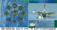 8,88 Euro = 9 Werte 2007 Finnland Kursmünzensatz Unabhängigkeit unc / B... 28,50 EUR  zzgl. 4,75 EUR Versand