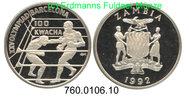 100 Kwacha 1992 Zambia Sambia *33 Oly´92 Boxer PP  39,00 EUR  zzgl. 4,75 EUR Versand