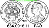 Thailand 2 Baht *469 KMY307 FAO 50 Jahre  684.0916.11 