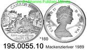 1 Dollar 1989 Canada Kanada *160 KM168 Mackenzie-River 195.0055.10  PP  23,75 EUR  zzgl. 4,75 EUR Versand