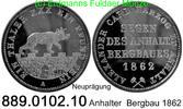 Taler 1862 Deutschland Anhalt AKS 17 Nachprägung . 889.0102.10  PP  25,00 EUR  zzgl. 4,75 EUR Versand