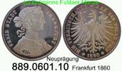 Vereinstaler 1860 Deutschland Frankfurt AKS8 Nachprägung . 889.0601.10 ... 25,00 EUR  zzgl. 4,75 EUR Versand